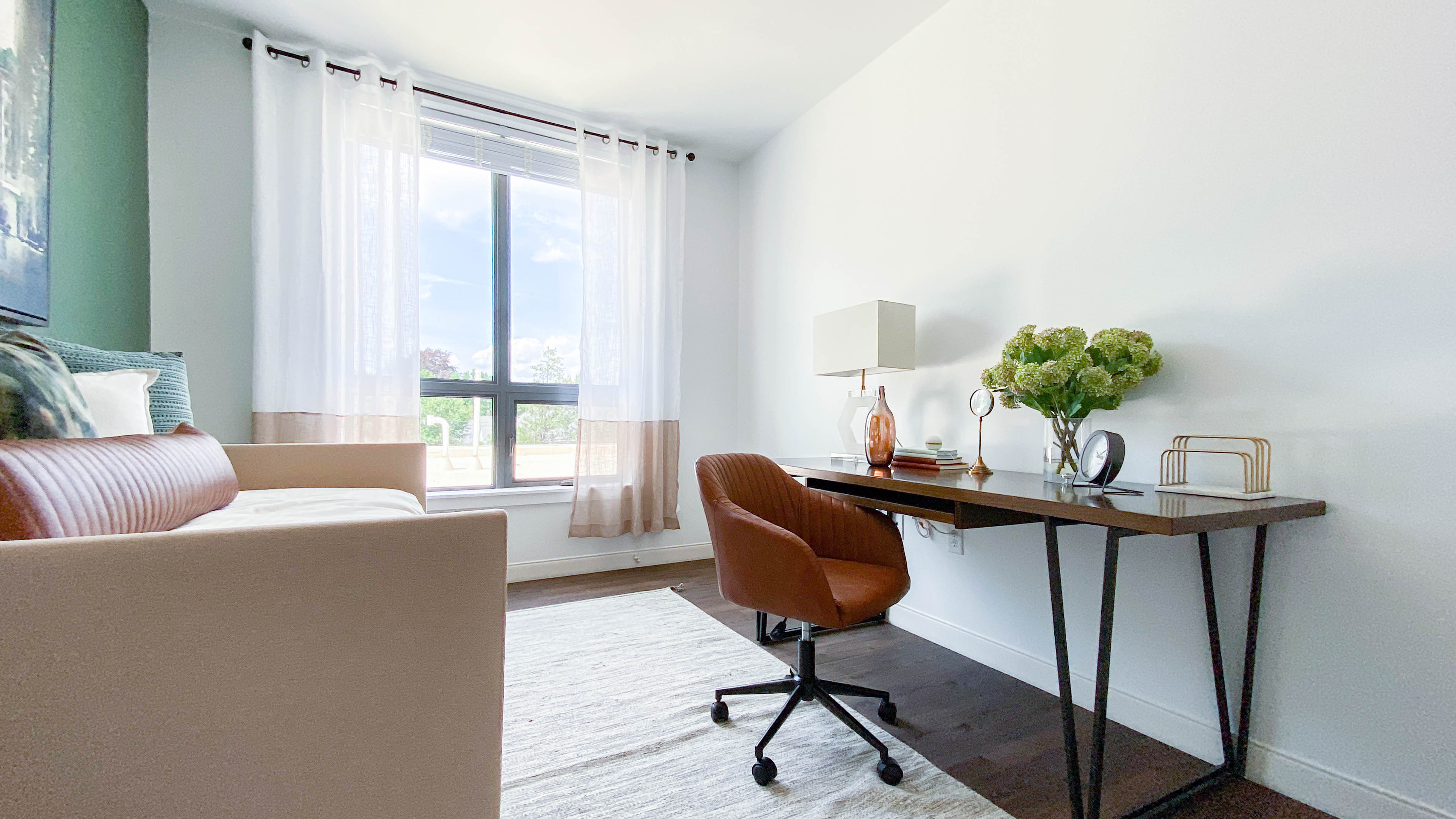 apartment with a home office